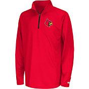 Colosseum Youth Louisville Cardinals Cardinal Red Draft Performance Quarter-Zip