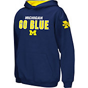 Colosseum Boys' Michigan Wolverines Blue Pullover Hoodie