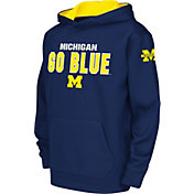 Colosseum Youth Michigan Wolverines Blue Fleece Hoodie
