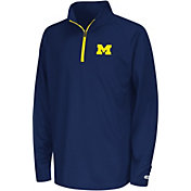 Colosseum Youth Michigan Wolverines Blue Draft Performance Quarter-Zip