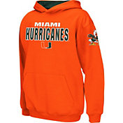 Colosseum Boys' Miami Hurricanes Orange Pullover Hoodie