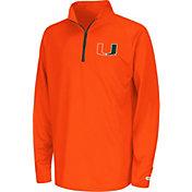 Colosseum Youth Miami Hurricanes Orange Draft Performance Quarter-Zip