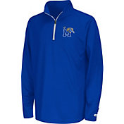 Colosseum Youth Memphis Tigers Blue Draft Performance Quarter-Zip