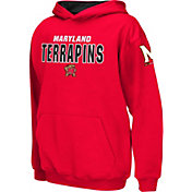 Colosseum Boys' Maryland Terrapins Red Pullover Hoodie