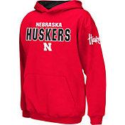 Colosseum Boys' Nebraska Cornhuskers Scarlet Pullover Hoodie