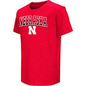 Colosseum Youth Nebraska Cornhuskers Scarlet Dual Blend T-Shirt