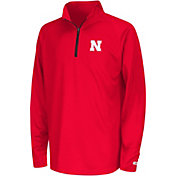 Colosseum Youth Nebraska Cornhuskers Scarlet Draft Performance Quarter-Zip