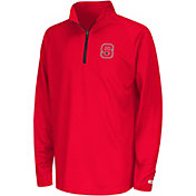 Colosseum Youth NC State Wolfpack Red Draft Performance Quarter-Zip