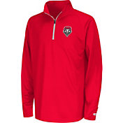 Colosseum Youth New Mexico Lobos Cherry Draft Performance Quarter-Zip