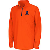 Colosseum Youth Syracuse Orange Orange Draft Performance Quarter-Zip