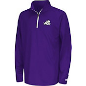 Colosseum Youth TCU Horned Frogs Orange Draft Performance Quarter-Zip