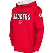 Colosseum Youth Wisconsin Badgers White Fleece Hoodie