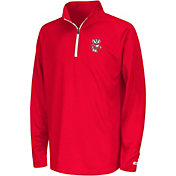 Colosseum Youth Wisconsin Badgers Red Draft Performance Quarter-Zip