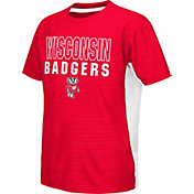 Colosseum Athletics Youth Wisconsin Badgers Red Vault T-Shirt