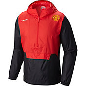 Columbia Men's Manchester United Flashback Windbreaker Red Pullover