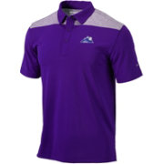 Columbia Men's Colorado Rockies Purple Polo