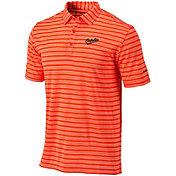 Columbia Men's Baltimore Orioles Orange Members Striped Polo