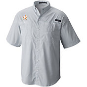 Columbia Men's Houston Astros Navy Super Tamiami Performance Short Sleeve Shirt