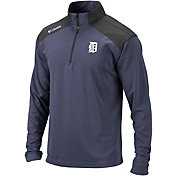 Columbia Men's Detroit Tigers Top Of The Green Navy Quarter-Zip Performance Pullover