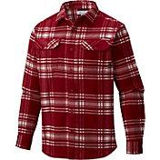 Columbia Men's Alabama Crimson Tide Crimson Plaid Flare Gun Flannel Long Sleeve Shirt