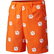Columbia Men's Clemson Tigers Orange Backcast II Printed Performance Shorts
