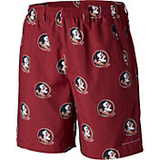 Columbia Men's Florida State Seminoles Garnet Backcast II Printed Performance Shorts