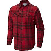 Columbia Men's Georgia Bulldogs Red Plaid Flare Gun Flannel Long Sleeve Shirt
