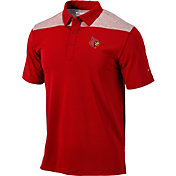Columbia Men's Louisville Cardinals Cardinal Red Tech Utility Polo