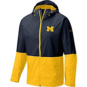 Columbia Men's Michigan Wolverines Blue/Maize Roan Mountain Jacket