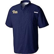 Columbia Men's Pitt Panthers Blue Tamiami Shirt