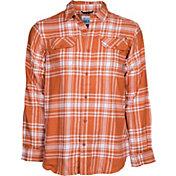 Columbia Men's Texas Longhorns Burnt Orange Plaid Flare Gun Flannel Long Sleeve Shirt