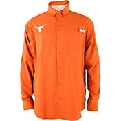 Columbia Men's Texas Longhorns Burnt Orange Tamiami Long Sleeve Shirt