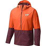 Columbia Men's Virginia Tech Hokies Burnt Orange/Maroon Roan Mountain Jacket