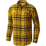 Columbia Men's Iowa Hawkeyes Gold Plaid Flare Gun Flannel Long Sleeve Shirt