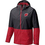 Columbia Men's Wisconsin Badgers Black/Red Roan Mountain Jacket