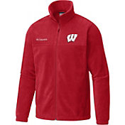 Columbia Men's Wisconsin Badgers Red Flanker II Full-Zip Fleece