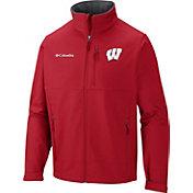 Columbia Men's Wisconsin Badgers Red Ascender Jacket