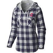 Columbia Women's Cleveland Indians Times Two Long Sleeve Flannel Hooded Shirt