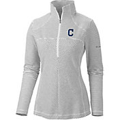 Columbia Women's Cleveland Indians Layer Upward Quarter-Zip Fleece Pullover