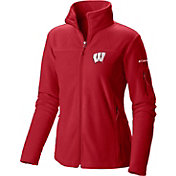 Columbia Women's Wisconsin Badgers Red Give and Go Full-Zip Fleece