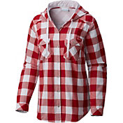 Columbia Women's Wisconsin Badgers Red Times Two Hooded Long Sleeve Shirt