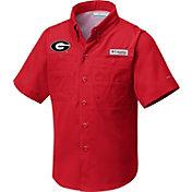 Columbia Youth Georgia Bulldogs Red Tamiami Shirt