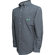 Campus Specialties Men's Colorado State Rams Green Multi-Checkered Woven Long Sleeve Shirt