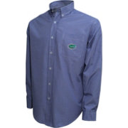 Campus Specialties Men's Florida Gators Blue Gingham Checkered Long Sleeved Shirt