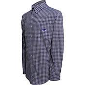 Campus Specialties Men's Kansas State Wildcats Purple Multi-Checkered Woven Long Sleeve Shirt