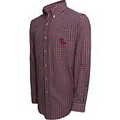 Campus Specialties Men's Ole Miss Rebels Red Multi-Checkered Woven Long Sleeve Shirt