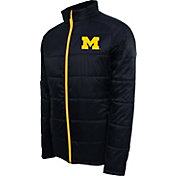 Campus Specialties Men's Michigan Wolverines Blue Puffer Jacket
