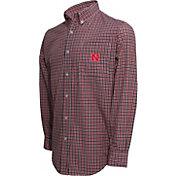 Campus Specialties Men's Nebraska Cornhuskers Scarlet Multi-Checkered Woven Long Sleeve Shirt
