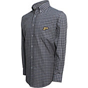Campus Specialties Men's Purdue Boilermakers Black Multi-Checkered Woven Long Sleeve Shirt