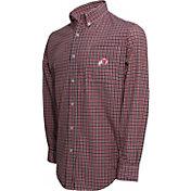 Campus Specialties Men's Utah Utes Crimson Multi-Checkered Woven Long Sleeve Shirt